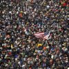 Bundled people pack the National Mall for the inauguration of President-elect Barack Obama in Washington, Tuesday, Jan. 20, 2009. (AP Photo/Carolyn Kaster)