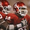 Oklahoma\'s David King (90) and Frank Alexander (84) celebrate after a defensive stop against Missouri on Saturday. Photo by Chris Landsberger, The Oklahoman