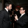 Photo - IMAGE DISTRIBUTED FOR THE PRODUCERS GUILD - Ben Affleck, left, and J.J. Abrams speak during the cocktail reception at the 24th Annual Producers Guild (PGA) Awards at the Beverly Hilton Hotel on Saturday Jan. 26, 2013, in Beverly Hills, Calif. (Photo by Todd Williamson/Invision for The Producers Guild/AP Images)