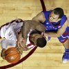 Oklahoma\'s Romero Osby (24) is fouled on a shot by Kansas\' Perry Ellis (34) during the second half as the University of Oklahoma Sooners (OU) defeat the Kansas Jayhawks (KU) 72-66 in NCAA, men\'s college basketball at The Lloyd Noble Center on Saturday, Feb. 9, 2013 in Norman, Okla. Photo by Steve Sisney, The Oklahoman