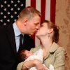 A dejected Kevin Calvey, 44, is joined by his wife, Toni, and their 2-week old son, Thomas, to concede defeat to opponent James Lankford in the Republican run-off election in Oklahom\'a 5th Congressional District Tuesday night, Aug. 24, 2010. Calvey, 44, delivered a message of strength and hope to about 50 supporters gathered at an Oklahoma City hotel to watch election results. Photo by Jim Beckel, The Oklahoman