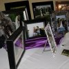 PICTURE PERFECT...Framed pictures of Angi\'s and Joel\'s September wedding were displayed on the tables. (Photo by Helen Ford Wallace).