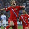 Photo - Russia's Aleksandr Kokorin celebrates his goal against Israel during the World Cup group F qualifying soccer match between Russia and Israel in St.Petersburg, Russia, Tuesday, Sept. 10, 2013. (AP Photo/Dmitry Lovetsky)