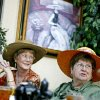 Terry Earnheart, left, and Beverly Schmoyer enjoy high tea at Inspirations Tea Room during a benefit for University of Central Oklahoma scholarships in Edmond, Tuesday, September 23, 2008. BY BRYAN TERRY, THE OKLAHOMAN