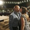 Oklahoma City firefighter Bobby Atkinson gets a kiss from his wife Kristen after she pinned his badge on during Oklahoma City Fire Department\'s recruit class of 2011-12 graduation at Crossroads Church in Oklahoma City, Friday, February 10, 2012. The class had 29 recruits graduating from the training class. Photo By Steve Gooch, The Oklahoman