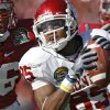 Oklahoma\'s Ryan Broyles (85) pulls in a pass for a touchdown in front of Stanford\'s Delano Howell (26) during the first half of the Brut Sun Bowl college football game between the University of Oklahoma Sooners (OU) and the Stanford University Cardinal on Thursday, Dec. 31, 2009, in El Paso, Tex. Photo by Chris Landsberger, The Oklahoman