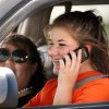 Bailey Belcoff, 16, talks on a cell phone while driving through a cone course during the Allstate Safe Driving Challenge course at State Fair Park on Tuesday, Aug. 16, 2011. Part of the challenge focused on eliminating distractions, such as cell phones and loud music, in the car. Belcoff attends Norman North High School. by Jim Beckel, The Oklahoman.