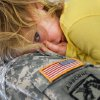 MILITARY DEPLOYMENT: Chief Warrant Officer 3 Danny Collins of Purcell holds one of his seven grandchildren after the 45th Infantry Brigade Combat Team Deployment Ceremony in downtown Oklahoma City, Wednesday, Feb. 16, 2011. Paige Collins, 3, of Davis, OK, lays her head against her grandfather\'s uniform. The girl\'s father was serving in Iraq when she was born. Four months after he returned home from duty, he was killed in a motorcycle crash. This will be Collins\' third deployment in the last 20 years. Collins said that at one point, he and three sons were serving in the military. One of his sons is deploying with the Guard group today. Photo by Jim Beckel, The Oklahoman,