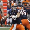 Photo -   Syracuse quarterback Ryan Nassib throws against Pittsburgh during the first quarter of an NCAA college football game in Syracuse, N.Y., Friday, Oct. 5, 2012. (AP Photo/Kevin Rivoli)