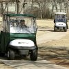 Golfers move down the path toward their next shot during the 14th annual two-man Ironman golf tournament at KickingBird Golf Course in Edmond, OK, Saturday, Jan. 28, 2012. By Paul Hellstern, The Oklahoman