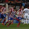 Atletico\'s Gabi, right, celebrates his goal during a Spanish La Liga soccer match between Atletico de Madrid and Real Madrid at the Vicente Calderon stadium in Madrid, Spain, Sunday, March 2, 2014. (AP Photo/Andres Kudacki)