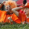 OSU fans Eric Martin, left, of Midwest City, Okla., and Matt Barnes, of Stillwater, Okla., cheer before the college football game between the Oklahoma State University Cowboys and the University of Georgia Bulldogs at Sanford Stadium in Athens, Ga., Saturday, September 1, 2007. By Nate Billings, The Oklahoman