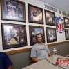 Sooner quarterback Landry Jones does a radio interview in the hallway of NFL Sooners during the media event at the University of Oklahoma on Saturday, Aug. 4, 2012, in Norman, Okla. Photo by Steve Sisney, The Oklahoman