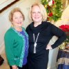 Donna Hughes, Chris Purcell were hostesses for their annual Christmas party in Norman. (Photo by Helen Ford Wallace).