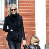 October 16, 2008: Gwyneth Paltrow takes her son Moses Martin for a walk in London, UK this afternoon. Moses wore a cool pair of blue sunglasses that matched his blue crocs. Credit: Eaglepress/INFphoto.com