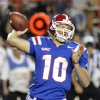 Louisiana Tech\'s Quarterback Colby Cameron threw for 329 yards during an NCAA football game against Texas A& M in Shreveport, La.,Saturday, Oct. 13, 2012. (AP Photo/Kita K Wright)