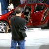 A visitor to the 2011 OKC Auto Show looks at a Chevrolet Volt at State Fair Park in Oklahoma City on Thursday, March. 3, 2011. Photo by John Clanton, The Oklahoman