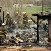Firemen from Cedar Country, Little Axe, Slaughterville and Lexington douse a fire that completely destroyed the home of Kristie and Dwaine Hall in rural Cleveland County on Wednesday, March 14, 2012, in Slaughterville, Okla. None of the five residents was at home and no one was injured. Photo by Steve Sisney, The Oklahoman
