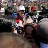 OU\'s Bob Stoops talks to the media after Oklahoma\'s Red-White football game at The Gaylord Family - Oklahoma Memorial Stadiumin Norman, Okla., Saturday, April 11, 2009. Photo by Bryan Terry, The Oklahoman