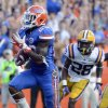 Photo -   Florida running back Mike Gillislee (23) runs for a 12-yard touchdown past LSU cornerback Jalen Mills (28) during the second half of an NCAA college football game Saturday, Oct. 6, 2012, in Gainesville, Fla. (AP Photo/Phil Sandlin)