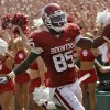 Oklahoma\'s Ryan Broyles celebrates after a touchdown during the first half of the college football game between the University of Oklahoma Sooners (OU) and the Florida State University Seminoles (FSU) on Sat., Sept. 11, 2010, in Norman, Okla. Photo by Chris Landsberger, The Oklahoman