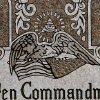 An image of an eagle carrying what appears to be the American flag is etched into the monument above the commandments. A six-foot tall granite monument of the Ten Commandments is erected on the north side of the state Capitol grounds Thursday morning, Nov. 15, 2012. Photo by Jim Beckel, The Oklahoman
