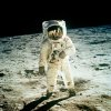 MOON LANDING / MOON WALK / EDWIN ALDRIN / BUZZ ALDRIN: FILE - In this July 20, 1969 file photo from NASA, Astronaut Edwin E. Aldrin Jr., lunar module pilot, is photographed walking near the lunar module during the Apollo 11 extravehicular activity. (AP Photo, NASA ,file) ORG XMIT: NY308