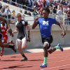 Millwood\'s Janari Glover wins the Boys 3A 100 Meter Dash and Lincoln Christian\'s Anthony Wilkinson is second during the State 3A and 4A Track Meet on Saturday, May 4, 2013, in Ardmore, Okla. Photo by Steve Sisney, The Oklahoman