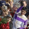 Jockey Mario Gutierrez reacts after riding I\'ll Have Another to victory in the 138th Kentucky Derby horse race at Churchill Downs Saturday, May 5, 2012, in Louisville, Ky. (AP Photo/Michael Conroy) ORG XMIT: DBY220