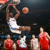 Oklahoma City\'s Kevin Durant puts up a slam dunk against Houston during their NBA basketball game at the OKC Arena in downtown Oklahoma City on Wednesday, Nov. 17, 2010. Photo by John Clanton, The Oklahoman