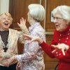Betty Windsor (left), Rosemary Mills and Ruthanne Love share some animated laughs as the Edmond Senior Center holds a laughing yoga class at the Multi-Activity Center in Edmond, OK, Friday, Feb. 17, 2012. By Paul Hellstern, The Oklahoman
