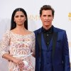 Photo - Camila Alves, left, and Matthew McConaughey arrive at the 66th Annual Primetime Emmy Awards at the Nokia Theatre L.A. Live on Monday, Aug. 25, 2014, in Los Angeles. (Photo by Jordan Strauss/Invision/AP)