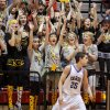 Arnett fans react behind Fargo\'s Tyler Howard after an Arnett basket in first round of the Class B state basketball tournament at Carl Albert in Midwest City, Thursday, March 1, 2012. Photo by Bryan Terry, The Oklahoman