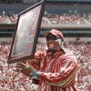NORMAN, OK: SEPTEMBER 4, 2004 COLLEGE FOOTBALL: University of Oklahoma versus Bowling Green at The Gaylord Family - Oklahoma Memorial Stadium. Former OU basketball star Wayman Tisdale. Staff Photo by Steve Sisney