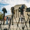 Photo -  Videojournalists set up outside of the Supreme Court on Tuesday in Washington.  AP Photo   J. David Ake -  AP