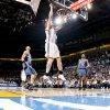 Oklahoma City\'s Robert Swift scores during the NBA basketball game between the Oklahoma City Thunder and the Washington Wizards at the Ford Center in Oklahoma City, Wed., March 4, 2009. PHOTO BY BRYAN TERRY, THE OKLAHOMAN