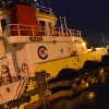 The Crowley Marine tugboat Alert ties up at Pier 2 at 6:20 p.m. Wednesday, Jan. 2, 2012 in Kodiak, Alaska. The Alert, normally based in Prince William Sound, was one of the tugs summoned to Kodiak in an effort to keep the drilling rig Kulluk from running aground. The Kulluk ran aground on New Year\'s Eve. (AP Photo/Kodiak Daily Mirror, James Brooks)
