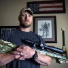 "Photo - In this April 6, 2012, photo, former Navy SEAL and author of the book ""American Sniper"" poses in Midlothian, Texas. A Texas sheriff has told local newspapers that Kyle has been fatally shot along with another man on a gun range, Saturday, Feb. 2, 2013. (AP Photo/The Fort Worth Star-Telegram, Paul Moseley)"