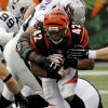 Cincinnati Bengals running back BenJarvus Green-Ellis (42) rushes against the Oakland Raiders in the second half of an NFL football game, Sunday, Nov. 25, 2012, in Cincinnati. Green-Ellis gained 129 yards in Cincinnati\'s 34-10 win. (AP Photo/Tom Uhlman)
