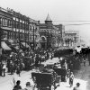 HISTORIC EARLY DAYS / OKLAHOMA CITY, OK / PARADES: Parade on Broadway 1909. Original photo dated 1909.