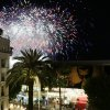 Photo - A fireworks show prior to arrivals on the red carpet for a screening of Timbuktu at the 67th international film festival, Cannes, southern France, Thursday, May 15, 2014. (AP Photo/Virginia Mayo)
