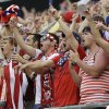 Photo - Fans cheer on the United States team during the second half of an international friendly soccer match between the United States and Nigeria in Jacksonville, Fla., Saturday, June 7, 2014. The United States won 2-1. (AP Photo/John Raoux)