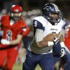 Southmoore\'s Pierce Spead runs against Mustang during their high school football game in Mustang, Okla., Friday, November 8, 2013. Photo by Bryan Terry, The Oklahoman