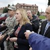 Emma Scanlan, center, the civilian defense attorney for U.S. Army Staff Sgt. Robert Bales, talks to reporters, Tuesday Nov. 13, 2012, as she stands with Bales\' military defense attorney, Maj. Gregory Malson, second from left, and attorney Lance Rosen, right, on Joint Base Lewis McChord in Washington state, where a preliminary hearing ended Tuesday for Bales, who is accused of 16 counts of premeditated murder and six counts of attempted murder for a pre-dawn attack on two villages in Kandahar Province in Afghanistan last March. (AP Photo/Ted S. Warren)