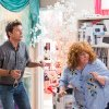 This undated publicity image released by Universal Pictures shows Jason Bateman, left, and Melissa McCarthy in a scene from,