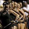 Members of the Star Spencer Blue Feline dance team perform during a high school football game between Star Spencer and Millwood at Star Spencer in Oklahoma City, Friday, September 2, 2011. Photo by Bryan Terry, The Oklahoman