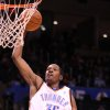 Photo - OKLAHOMA CITY THUNDER NBA BASKETBALL: Oklahoma City Thunder forward Kevin Durant.    BY HUGH SCOTT, THE OKLAHOMAN ORG XMIT: KOD