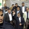 Egyptian President Mohammed Morsi, center, waves after attending Friday prayers in Cairo, Egypt, Feb. 1, 2013. Thousands of Egyptians marched across the country, chanting against the rule of the Islamist President Mohammed Morsi, in a fresh wave of protests Friday, even as cracks appeared in the ranks of the opposition after its political leaders met for the first time with the rival Muslim Brotherhood. (AP Photo/Jihan Nasr, Shorouk Newspaper) EGYPT OUT