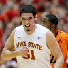 Iowa State forward Georges Niang pounds on his chest after hitting a 3-pointer against Oklahoma State during the first half of an NCAA college basketball game, Wednesday, March 6, 2013, in Ames, Iowa. (AP Photo/Justin Hayworth) ORG XMIT: IAJH101