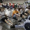Photo - Participants at the 2011 Bart and Nadia Sports and Fitness Festival try out a rowing machine from Oklahoma City RIVERSPORT. Photo provided.